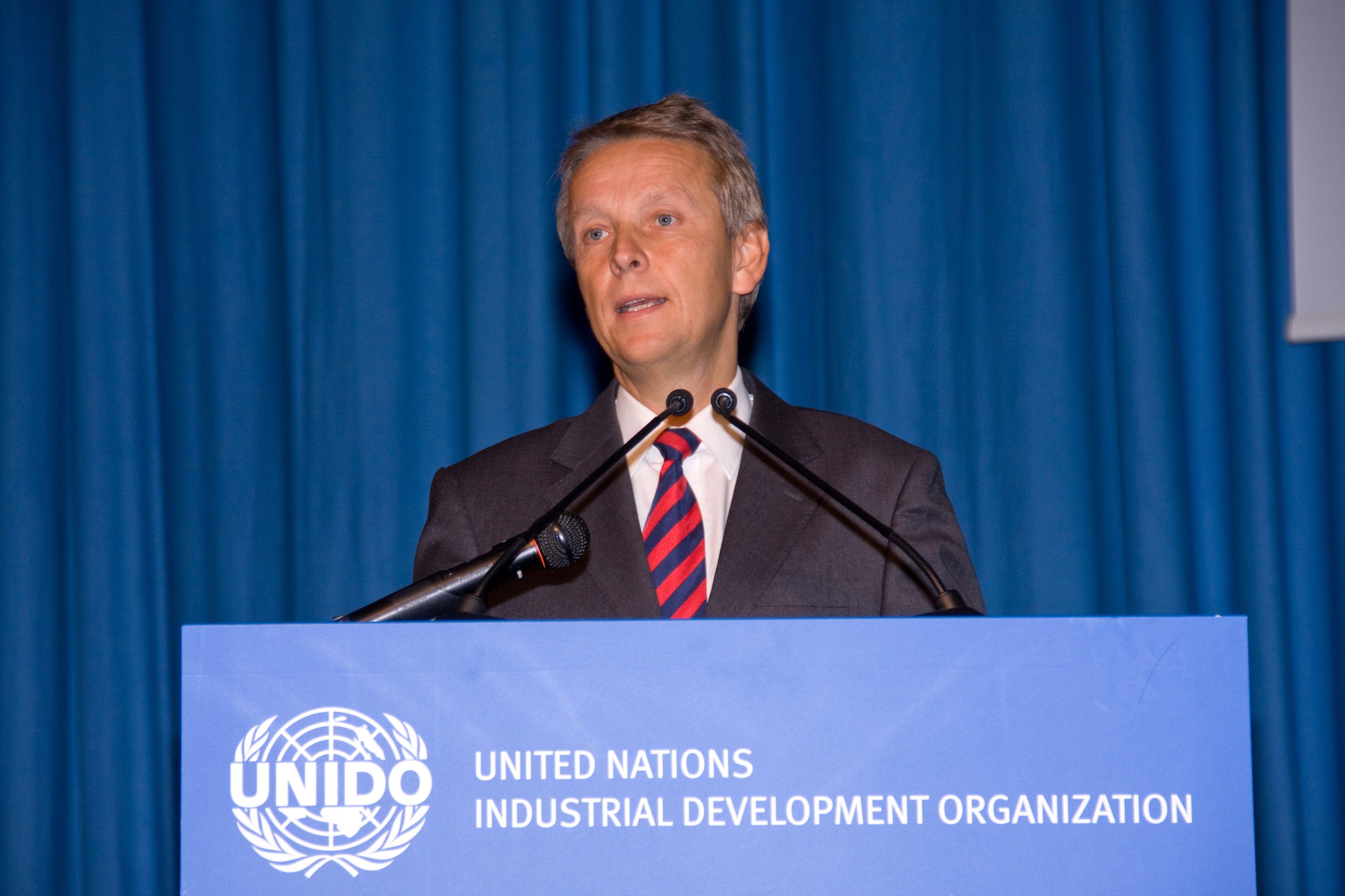 Bei der ERöffnungsrede der UNIDO-Konferenz in Wien (C) UNIDO