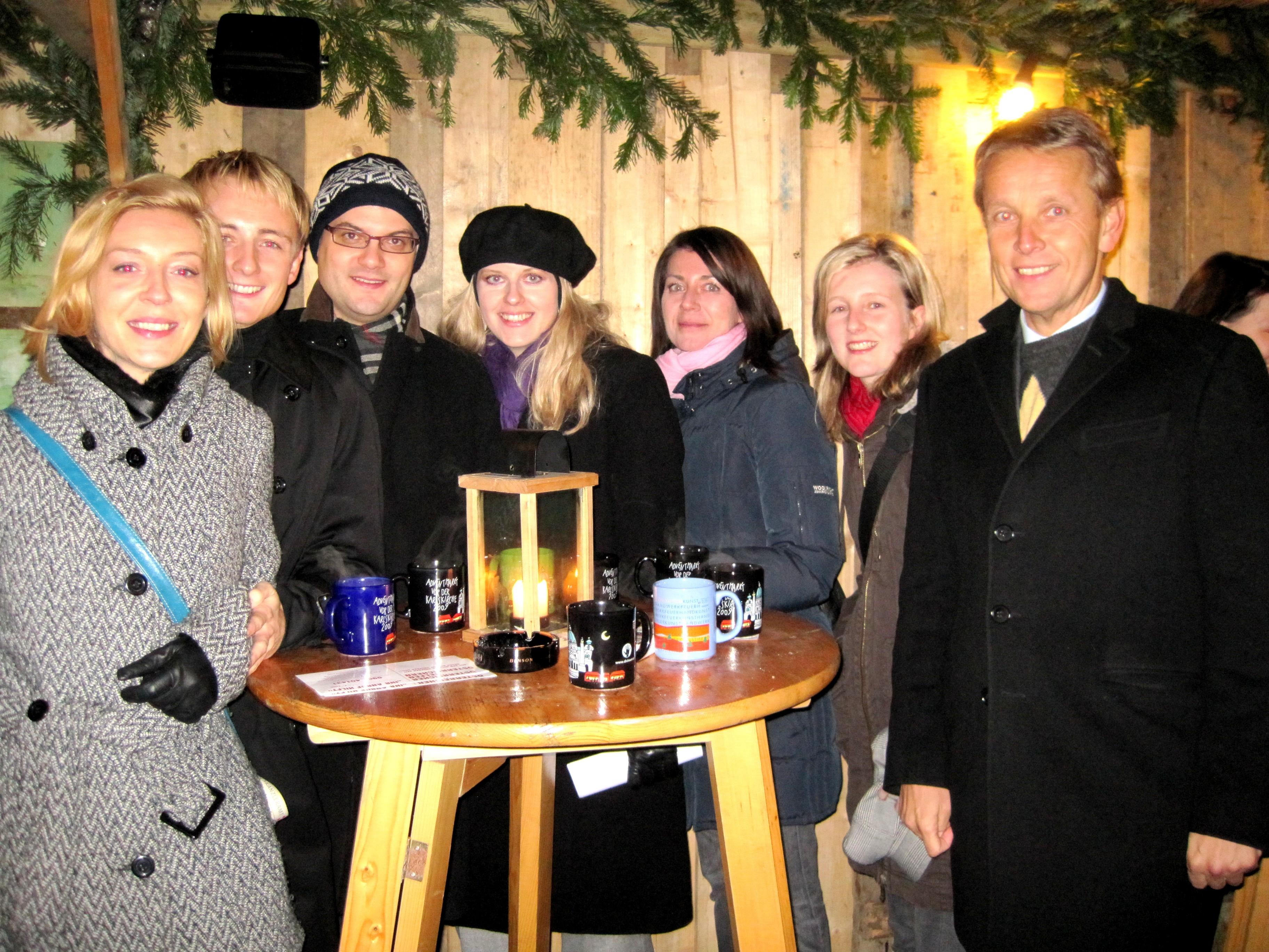 Gemütliches Beisamensein mit meinem Team in der Vorweihnachtszeit (C) A. Jaitner