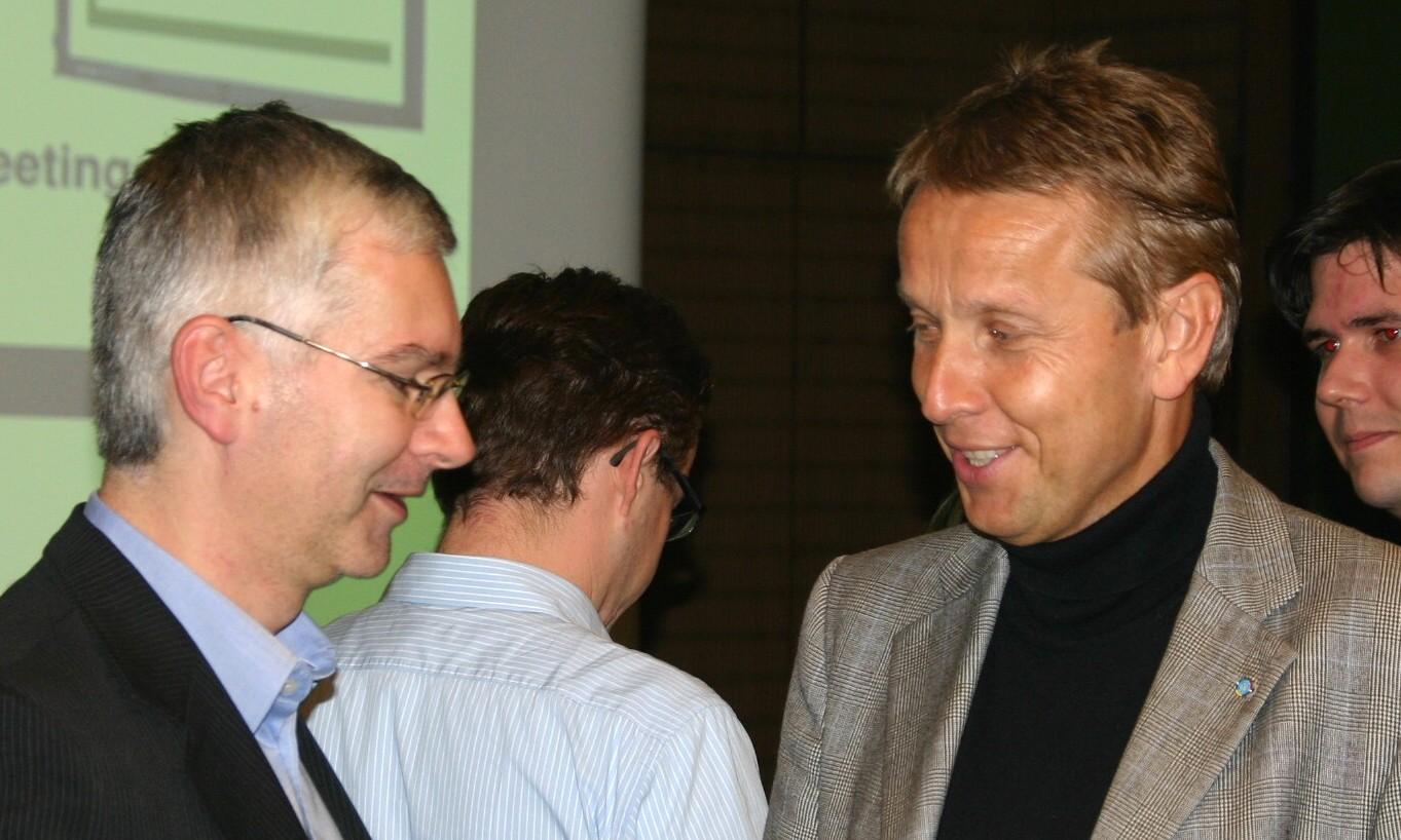 Mit Wahlsieger Otto Aiglsperger (C) FCG
