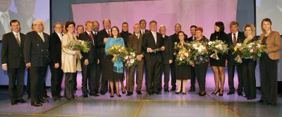"""BSO-""""Top-Sportverein"""" wurde der Leichtathletik-Club Sportunion """"IGLA long life"""", """"Top-Funktionäre"""" wurden Karl Weiß vom Faustball-Bund sowie bei den Damen Eva Worisch (Synchronschwimmen) und der Titel """"Top-Frauen-Power"""" wurde Rena Eckart vom Badminton verliehen (C) BSO / Christian Singer"""