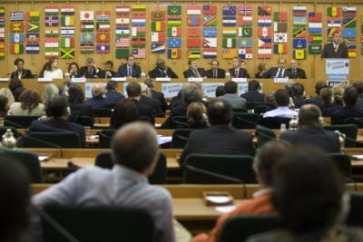 Der Kampagnen-Startschuss in Rom anlässlich rückt die Bedeutung der Weltgemeinschaft und den Beitrag, den der Sport im Kampf gegen Hunger leisten kann, in den Vordergrund (C) FAO