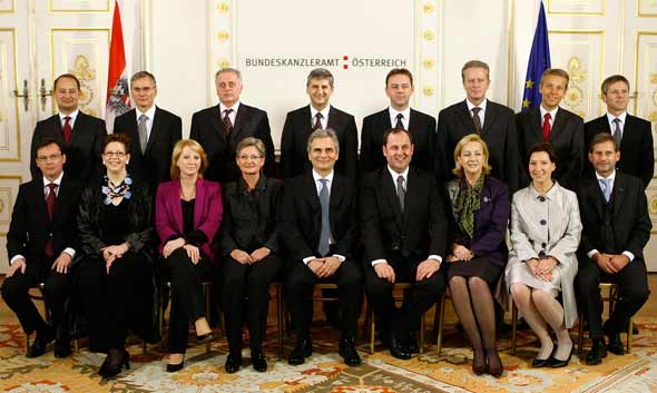 Die Angelobung der Mitglieder der Regierung Faymann (C) HBF