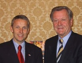Mit ÖOC-Präsident Leo Wallner (C) StS
