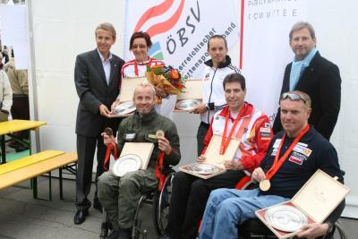 Ehrung der ÖPC-Medaillengewinner Paralympischen Sommerspiele in Peking 2008 (C) StS Sport