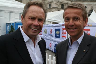Edi Finger jun. und Adi Niederkorn moderierten wie auch beim Tag des Sports und Rock & Roller Peter Kraus sorgte für die musikalische Untermalung (C) StS Sport