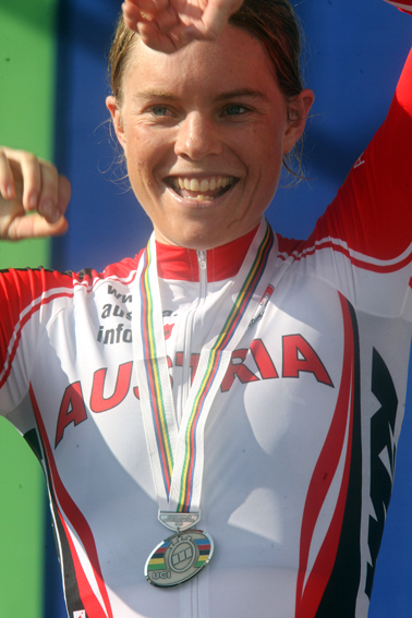 Christiane Soeder: erfolgreichste Medaillensammlerin des ÖRV im Straßenrennsport (C) GEPA pictures / Roberto Bettini