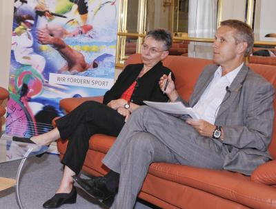 Die deutsche Sport- und Bewegungsexpertin Prof. Dr. Ulrike Ungerer-Röhrich der Uni Bayreuth ist auch der Meinung dass Bewegung und Sport der Schlüssel zur Gesundheit und zum schulischen Lernerfolg unserer Kinder und Jugendlichen ist (C) HBF / Livio Srodic