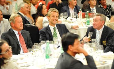 """Mit ÖOC-Präsident Leo Wallner und OSV-Präsident Paul Schauer bei der offiziellen ÖOC-Abschiedsfeier """"Farewell Feier Peking 2008"""" für die olympische Mannschaft (C) GEPA pictures / Reinhard Müller"""