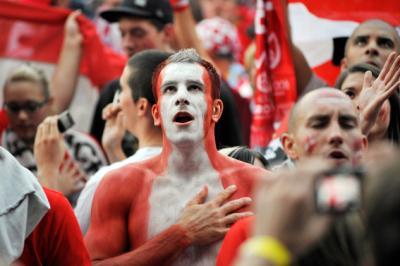 Für Österreich heißt es heute: Alles oder nichts! Die Fans fiebern dem sportlichen Gipfeltreffen entgegen (C) GEPA pictures / Reinhard Müller