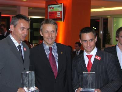 Peter Pacult und Steffen Hoffmann sind Trainer bzw. Fußballer des Jahres (C) StS Sport