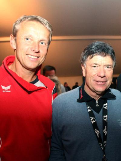 Gemeinsame Freude mit ÖSV-Präsident Peter Schröcknadel über die Vergabe der Ski-WM 2013 an Schladming (C) GEPA pictures / Hans Simonlehner