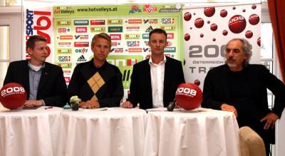 """Die """"aon hotVolleys"""" veranstalten am 22. Mai 2008 die """"1. Intersport Eybl Park Volley Championship powered by '2008 - Österreich am Ball'"""" (C) GEPA pictures / Philipp Schalber"""