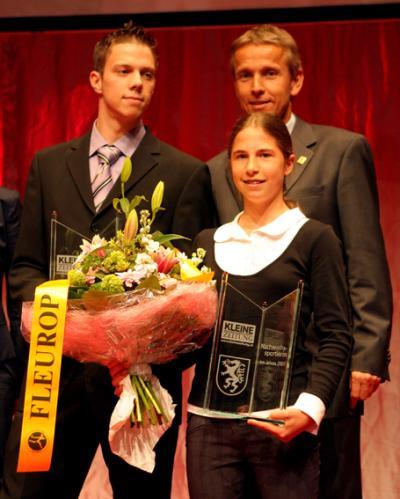 Die Nachwuchssportler des Jahres 2007: Jürgen Trummer und Anna-Maria Heil beim Siegerfoto (C) GEPA pictures / Rene Stocker