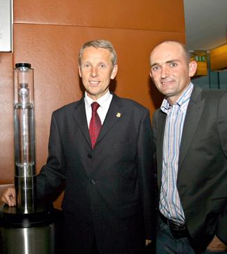 Mit dem erfolgreichen Golfer Markus Brier (C) GEPA pictures / Andreas Tröster