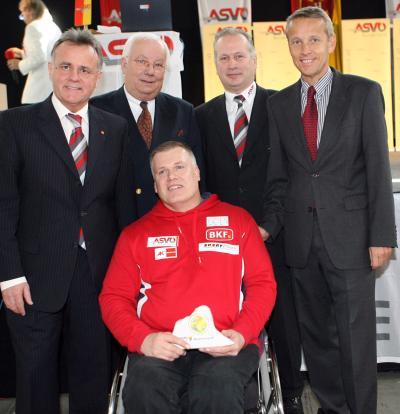 Meisterehrung 2007 des ASVÖ Burgenland mit Landeshauptmann Hans Niessl, ASVÖ Präsident Siegfried Robatscher, ASVÖ-Burgenland-Präsident Robert Zsifkovits und Georg Tischler (C) StS Sport