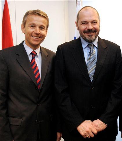 Beim Arbeitsgespräch mit Finanzminister Križanič (C) HBF