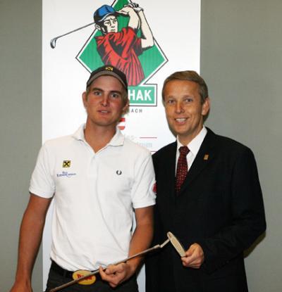 In der Golf-HAK Stegersbach mit Golfer Florian Prägant (C) StS Sport