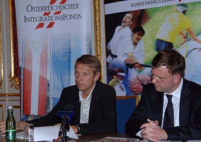 Pressekonferenz zum Thema Sport und Integration mit Alexander Janda im Haus des Sports (C) HBF / Franz Hartl