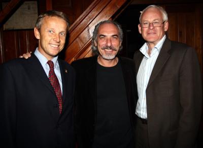 Bei der Feierstunde für den Jubilar Peter Kleinmann mit meinem Büroleiter Fritz Smoly (C) GEPA pictures/Walter Luger