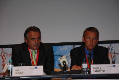 Mit Hans Huber, dem ORF-Sportchef; am Podium beim europäischen Forum Alpbach (EFA) 2007 (C) Markus Prantl, EFA 07
