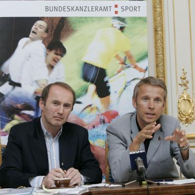 Gemeinsam mit Othmar Karas wollen wir die Bedeutung des Sport in der EU stärken (C) HBF / Peter Lechner