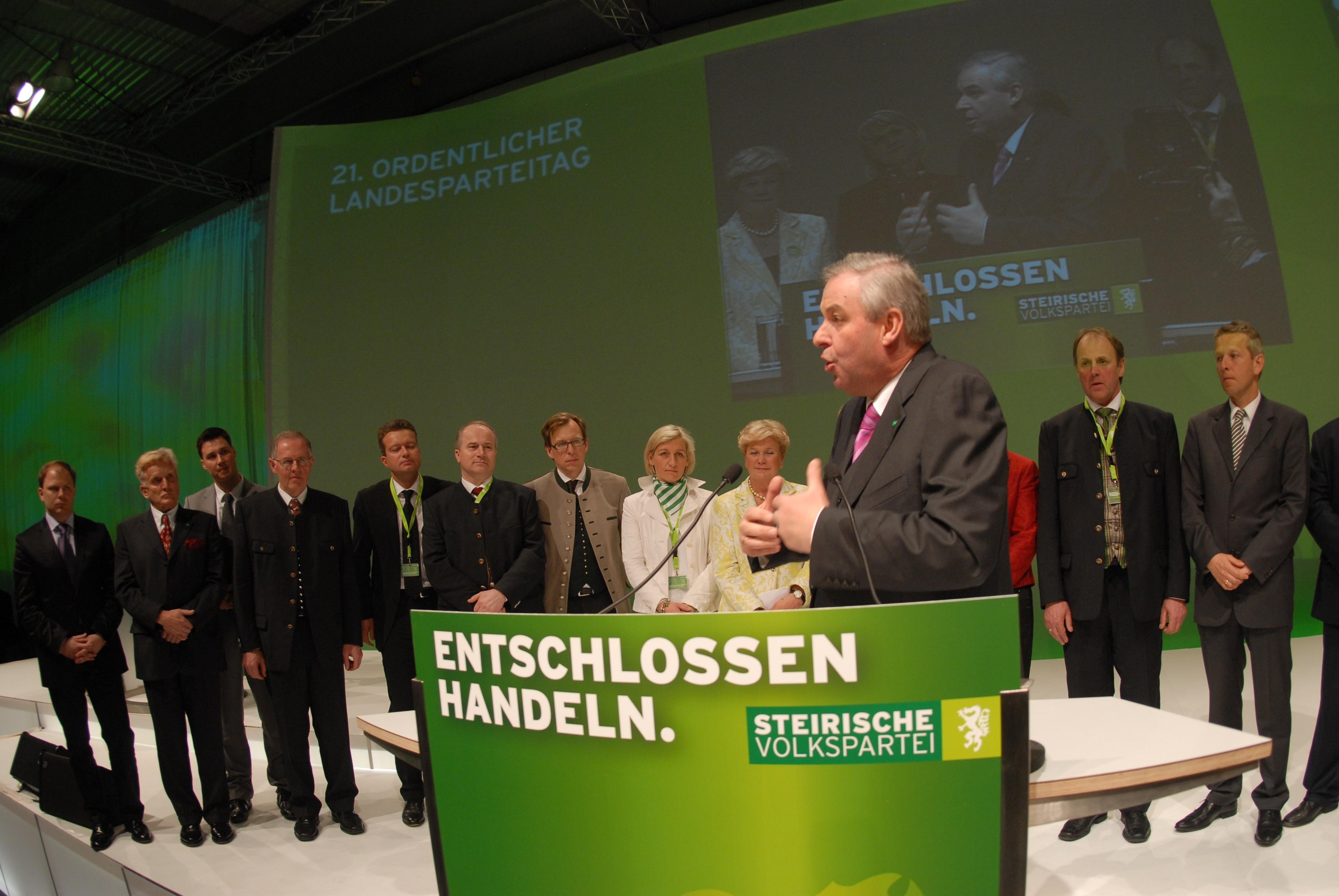 Beim Landesparteitag in Graz (C) ÖVP Steiermark