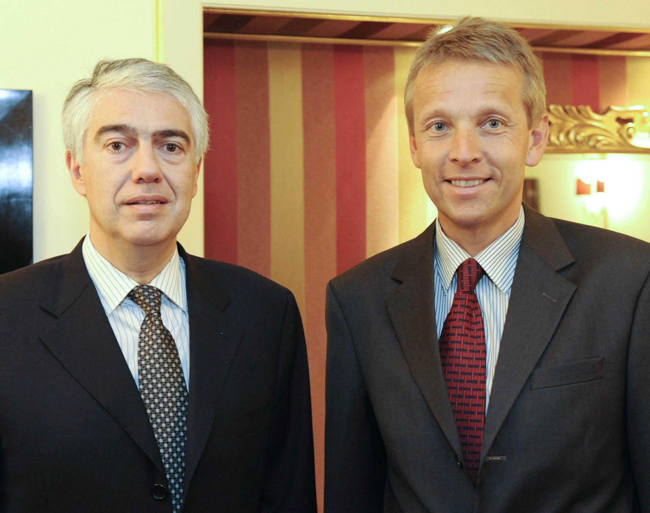 Mit dem Finanzminister des Fürstentums Monaco, Franck Biancheri (C) HBF / Reich