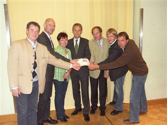 Freude über die zugesicherten Millionen in Schladming (C) ÖVP Schladming