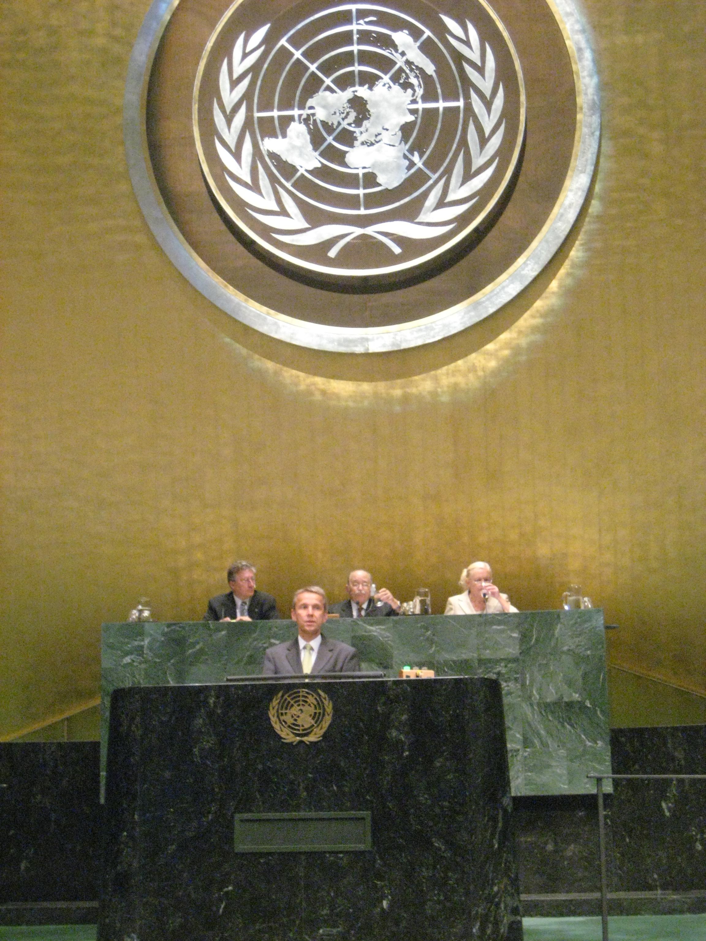 Bei der Rede vor der UN-Vollversammlung in New York (C) Pöllauer