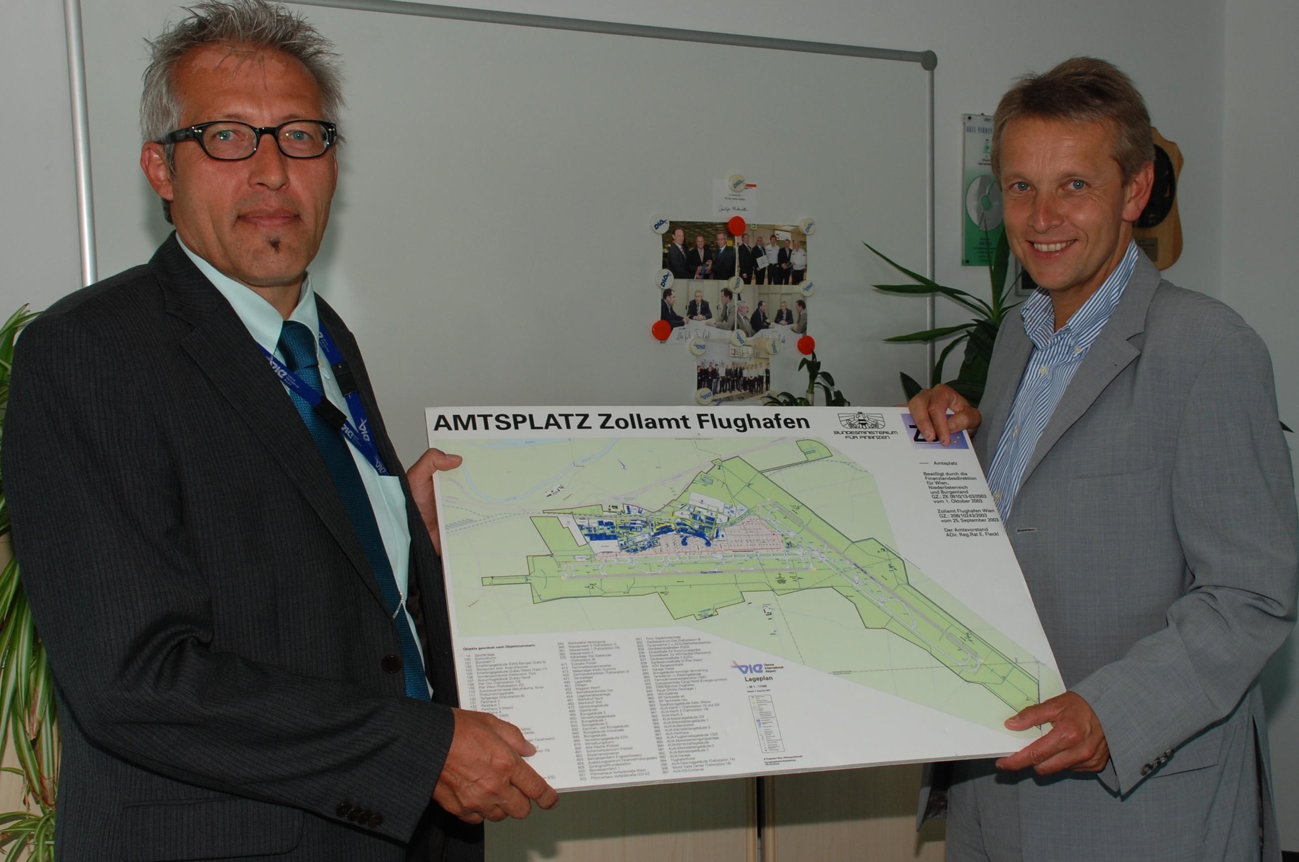 Arbeitsplatz Flughafen: Das dortige Zollamt ist rund um die Uhr besetzt (C) ÖVP Niederösterreich