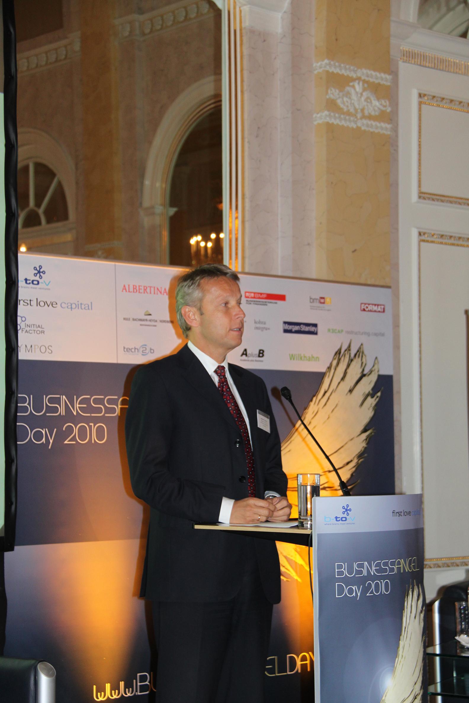 Bei der Eröffnung des Business Angel Day (C) Iris Brüggler