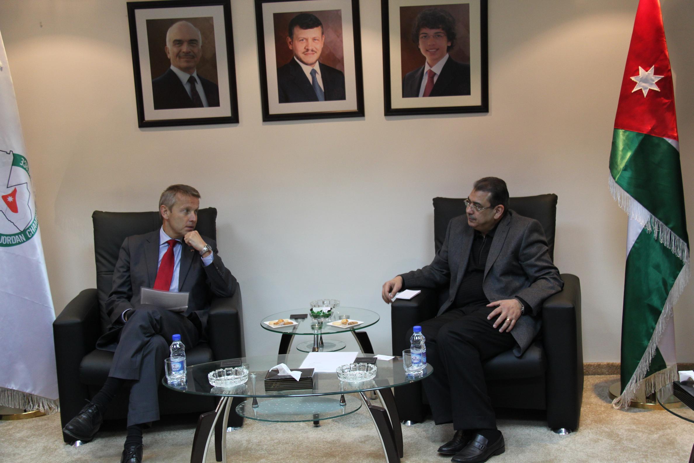 Mit dem Präsidenten der jordanischen Wirtschaftskammer (C) Sven Pöllauer
