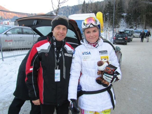 Mit Weltcup und Olympiasieger Lindsey Vonn (C) Büro StS