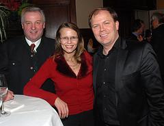 Hermann Schützenhöfer und Beatrix Karl mit meinem Nach-Nach-Nachfolger als Landesgeschäftsführer Bernhard Rinner (C) Alfons Kowatsch