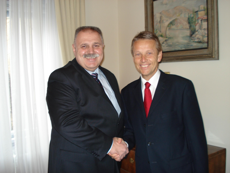 Mit dem kroatischen Finanzminister Ivan Suker (C) Sven Pöllauer