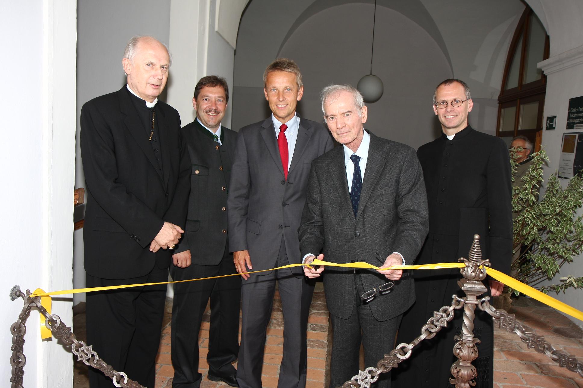 """Bei der Eröffnung von """"echopysics"""", dem ersten Europäischen Zentrum für Physikgeschichte (C) Büro StS"""