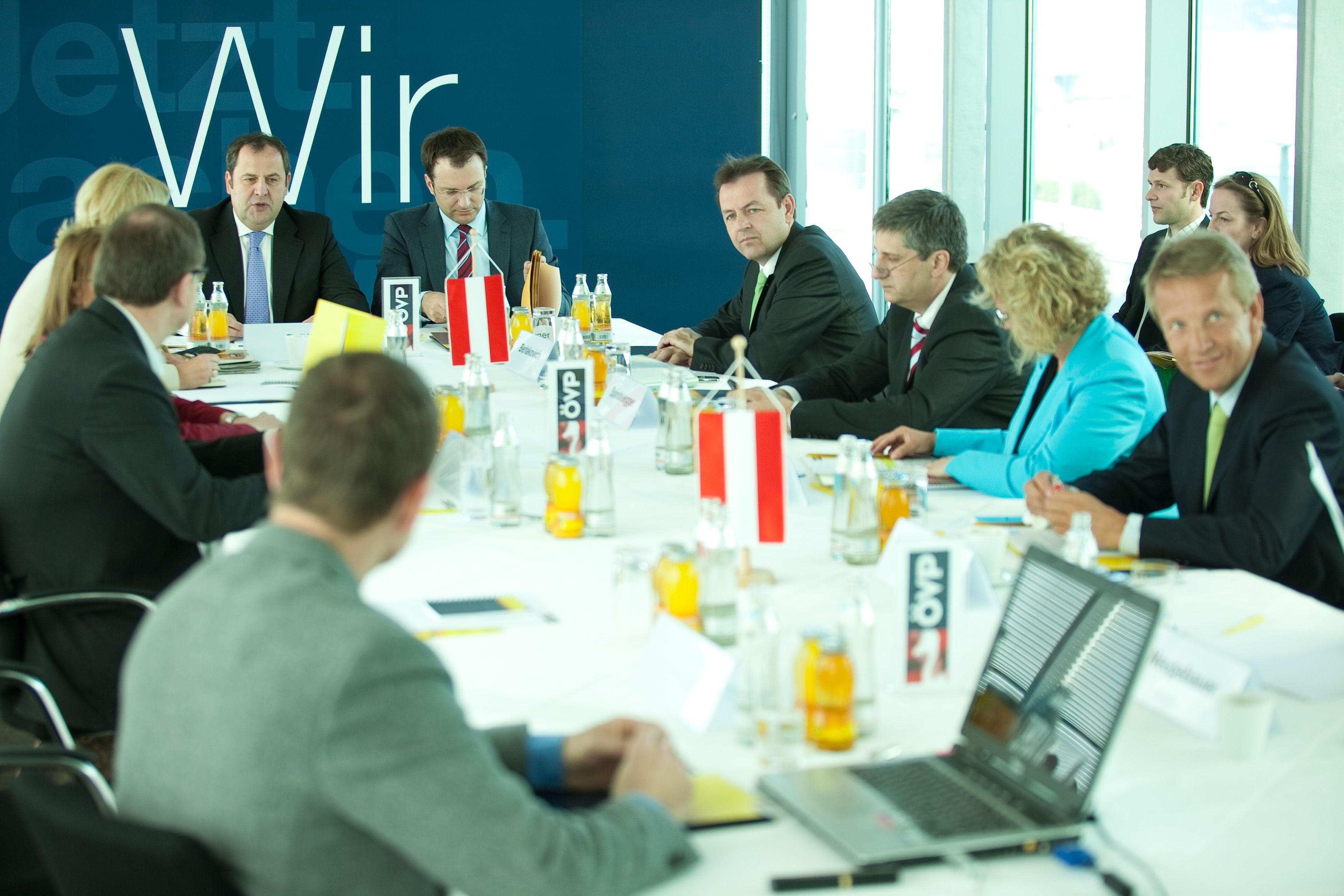 Sitzung des ÖVP-Regierungsteams am 1. Mai (C) ÖVP