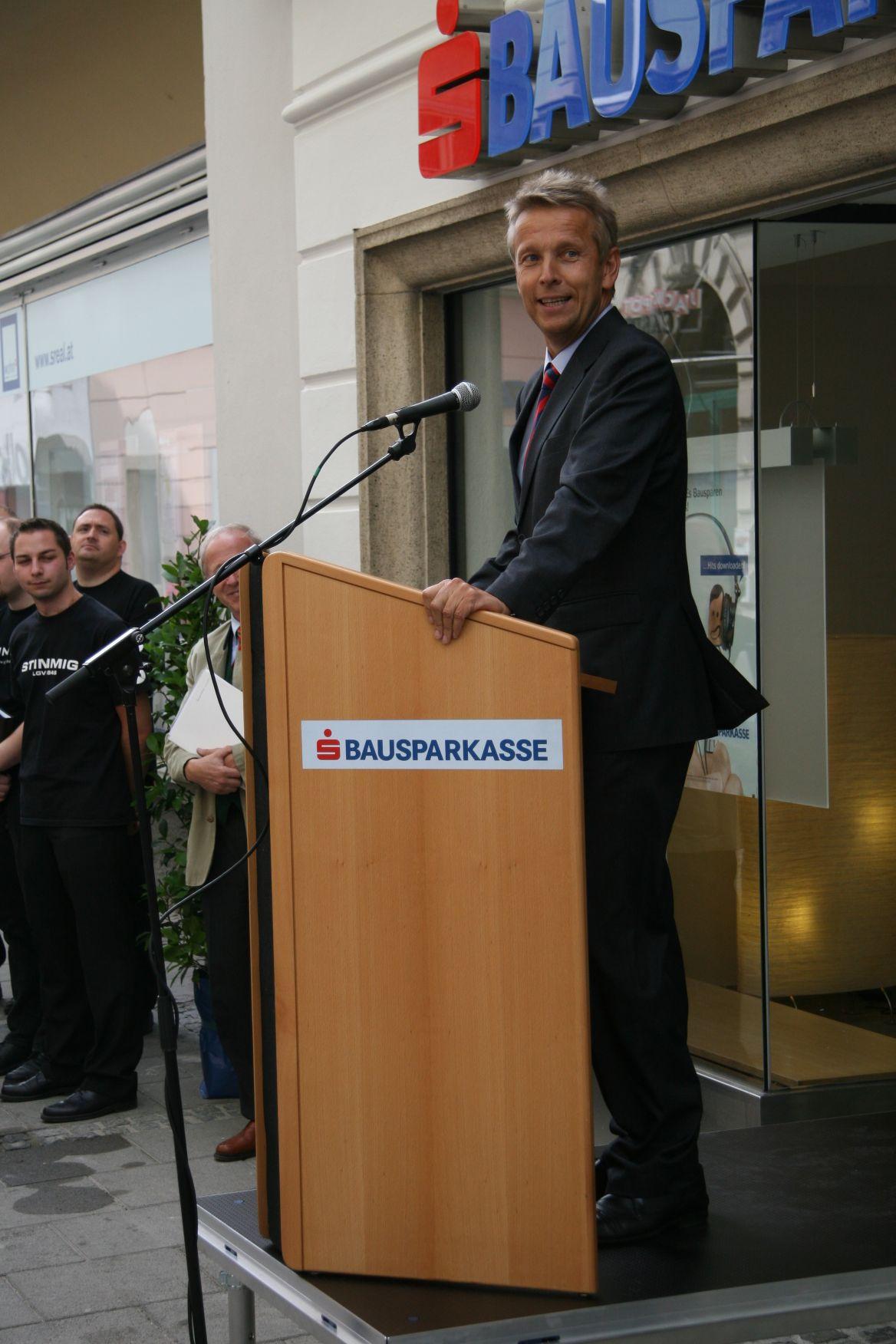 Bei der Eröffnung der s-Bausparkasse in Graz (C) s-Bausparkasse
