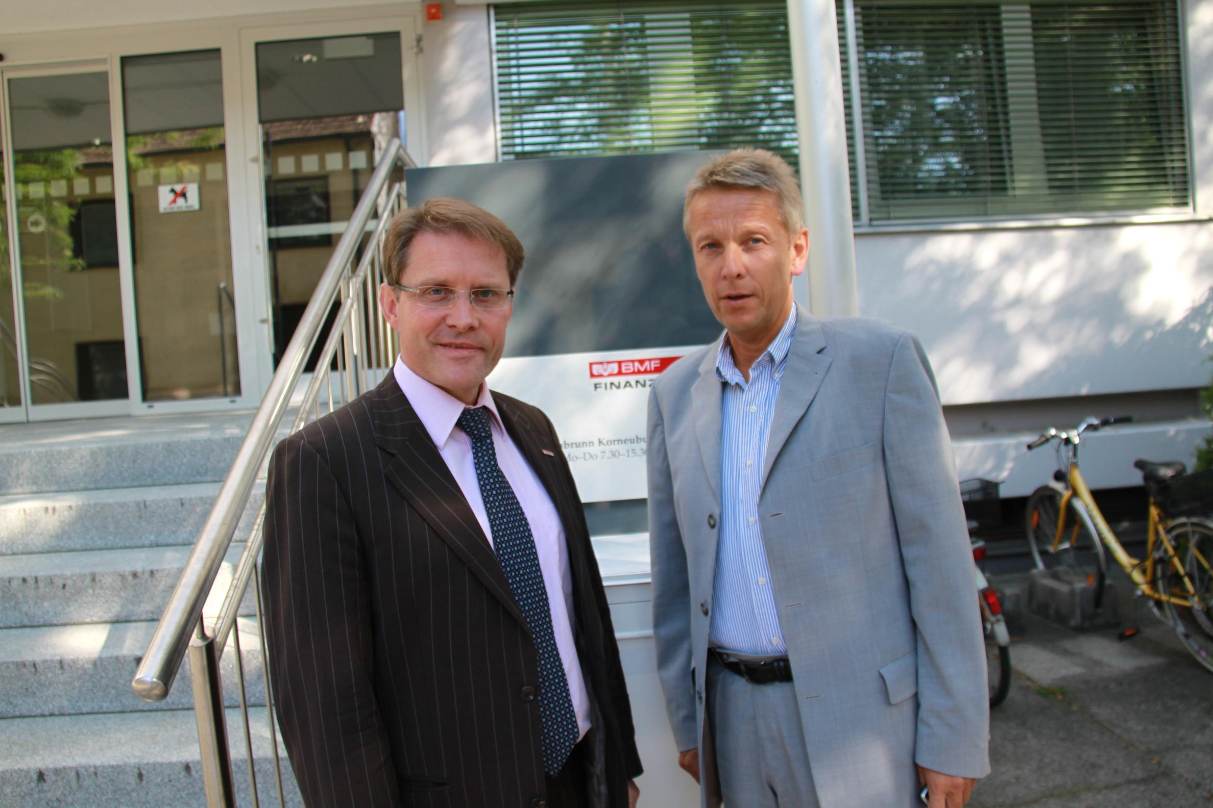 Mit Vorstand Anton Trauner in Tulln (C) Sven Pöllauer