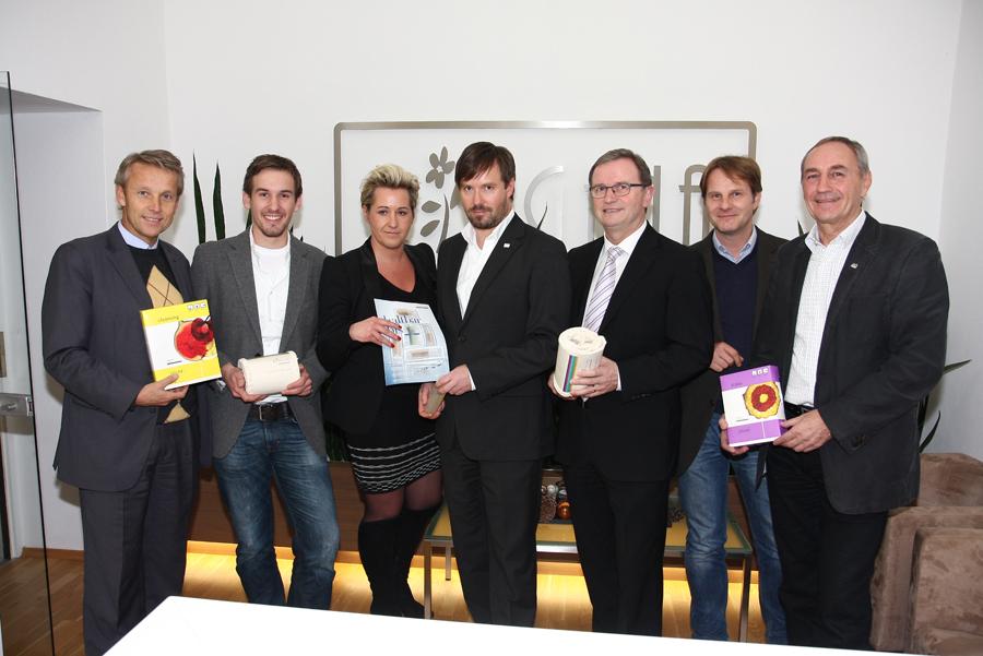 Betriebsbesuch bei der Firma Ringana mit Klubobmann Karlheinz Kopf.