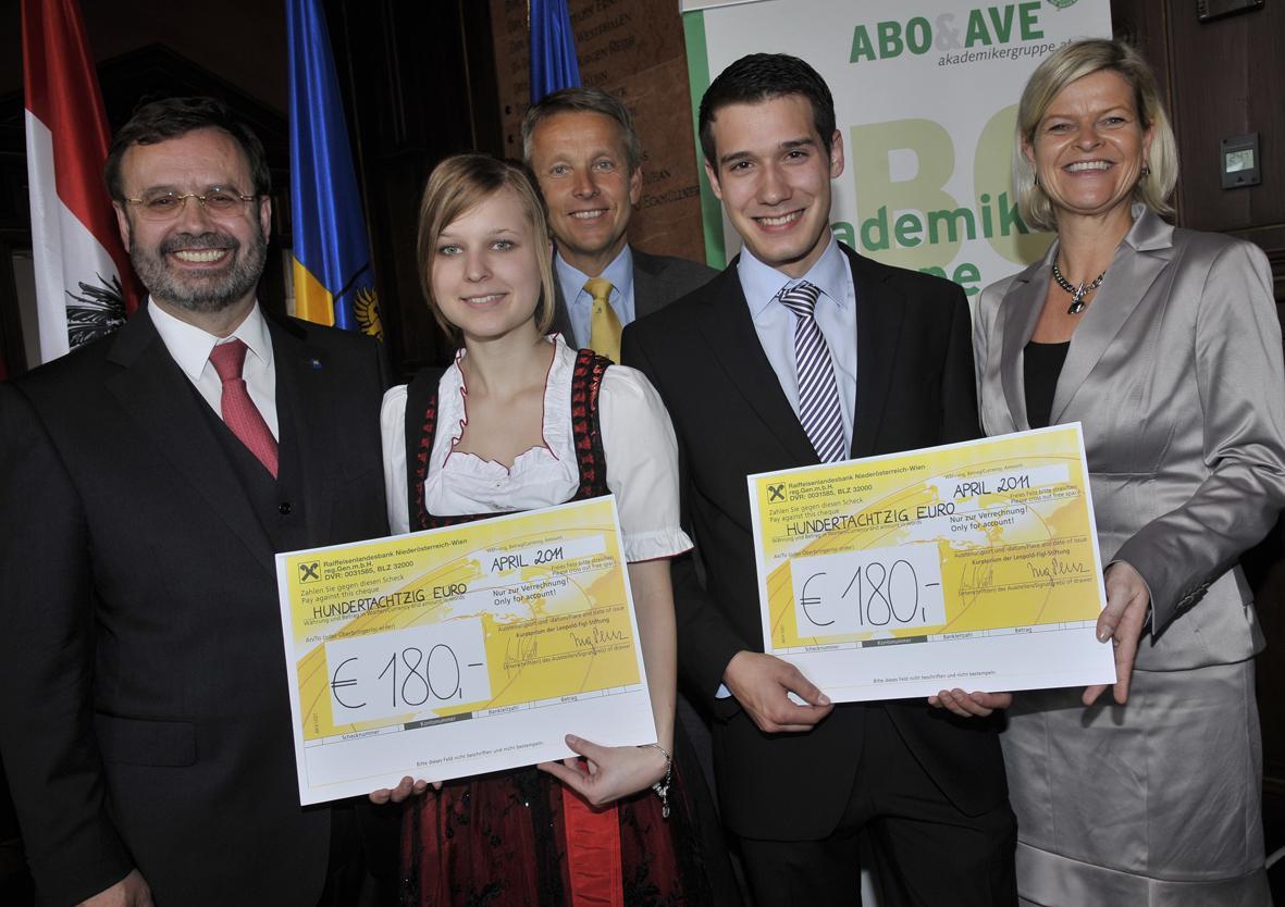 Bei der Verleihung der Leopold Figl-Stipendien (C) NÖ Bauernbund