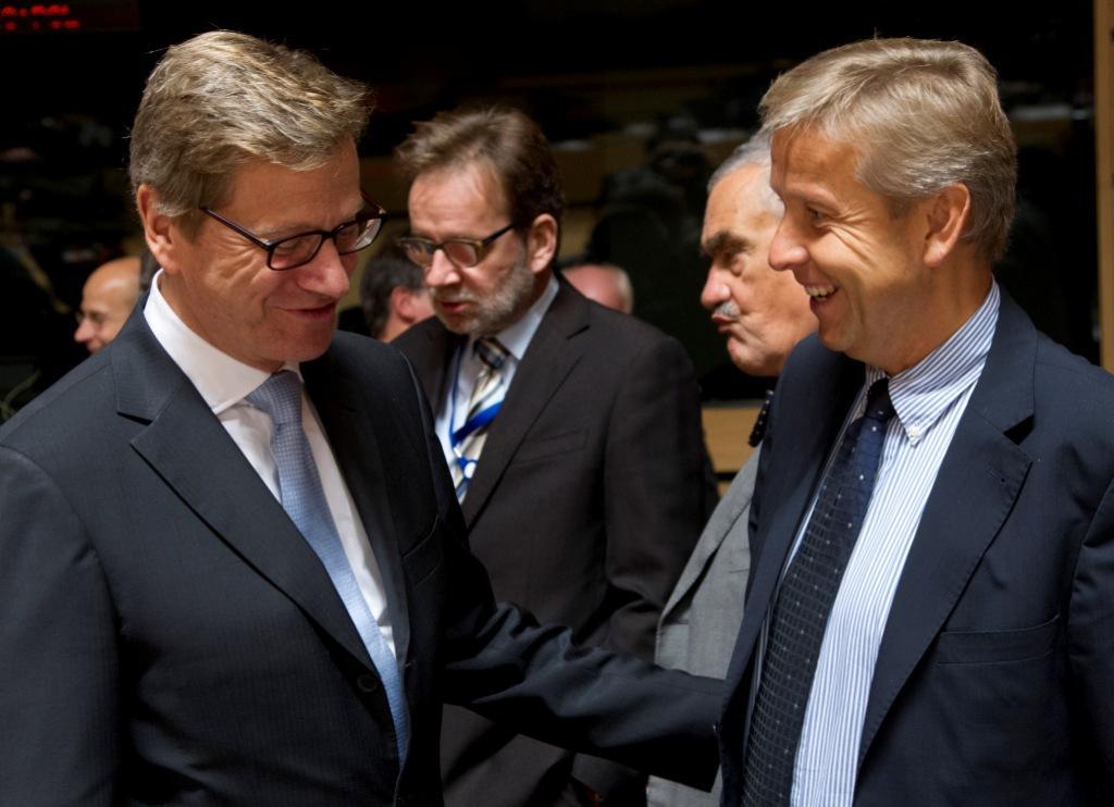 (c) BMEIA, Paier, STS im Gespräch mit deutschem AM Guido Westerwelle