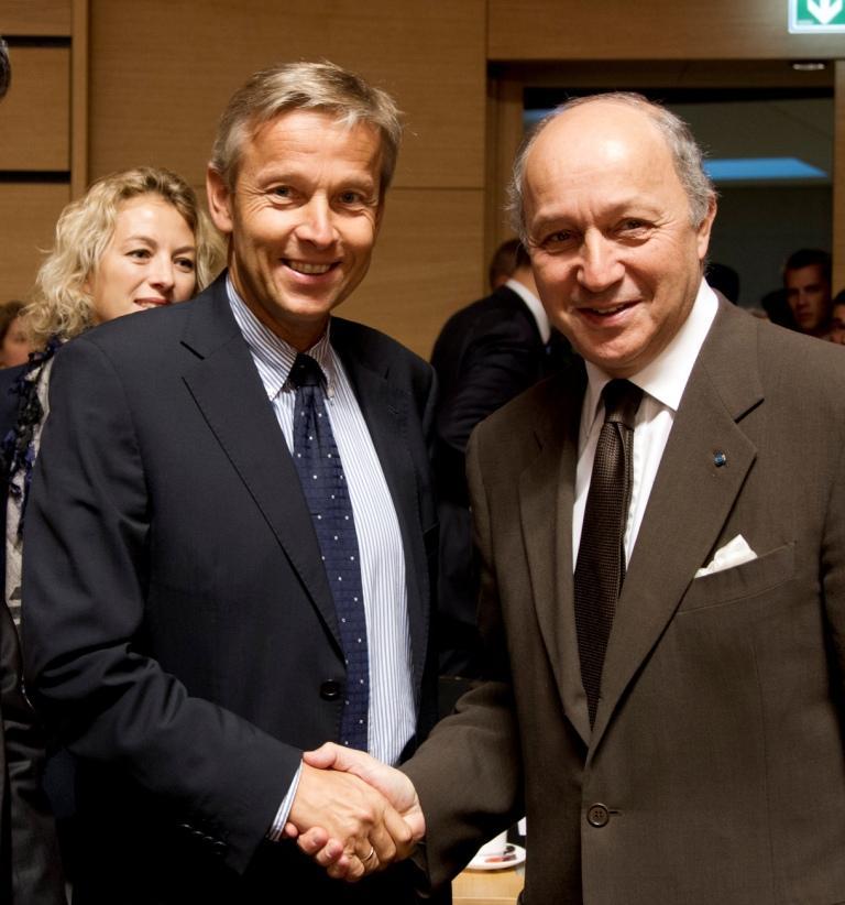 (c) BMEIA, Paier, STS Lopatka trifft französischen AM Laurent Fabius