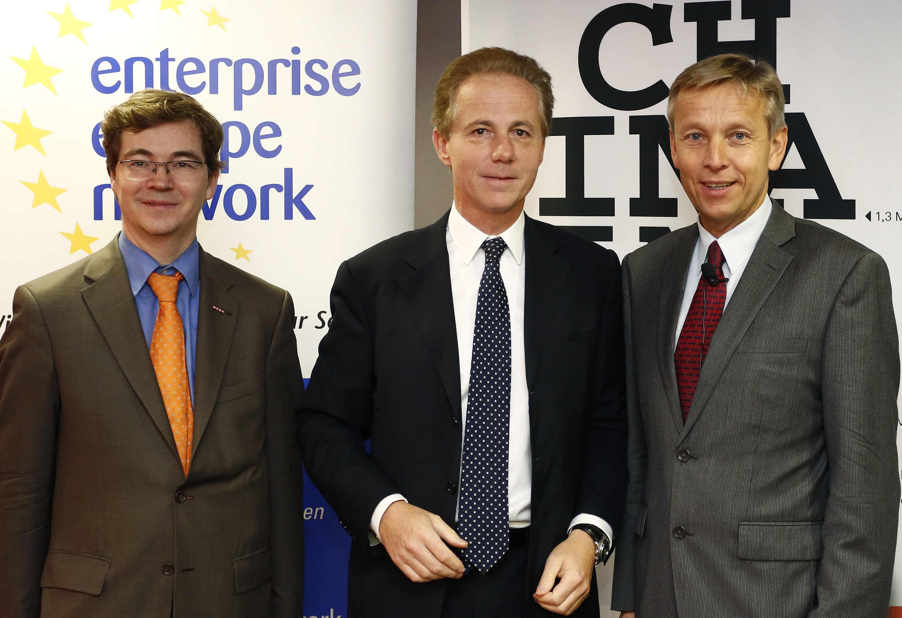(c) BMEIA, Mag. Christian Mandl (WKÖ), Mag. Georg Kapsch (CEO Kapsch), STS Lopatka