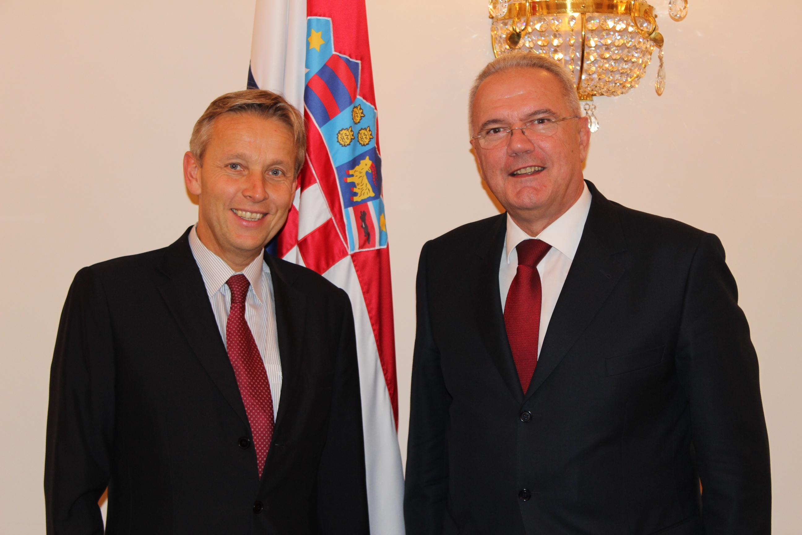 (c) BMEIA, Staatssekretär Lopatka trifft den kroatischen Vizepremierminister Mimica in Zagreb