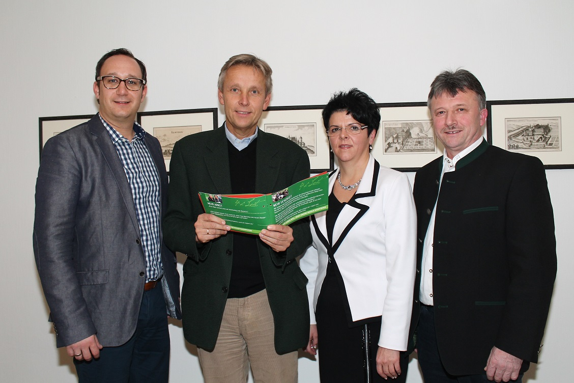 (c) BMEIA, NAbg. Jochen Pack, StS Reinhold Lopatka, LAbg. Waltraud Schwammer und LAbg. Hubert Lang.  Foto: Mayer