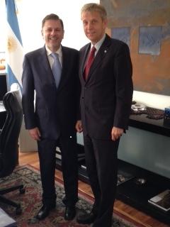 (c) BMEIA, Argentinischer Staatssekretär im Außenministerium, Eduardo Antonio Zuain und StS Lopatka