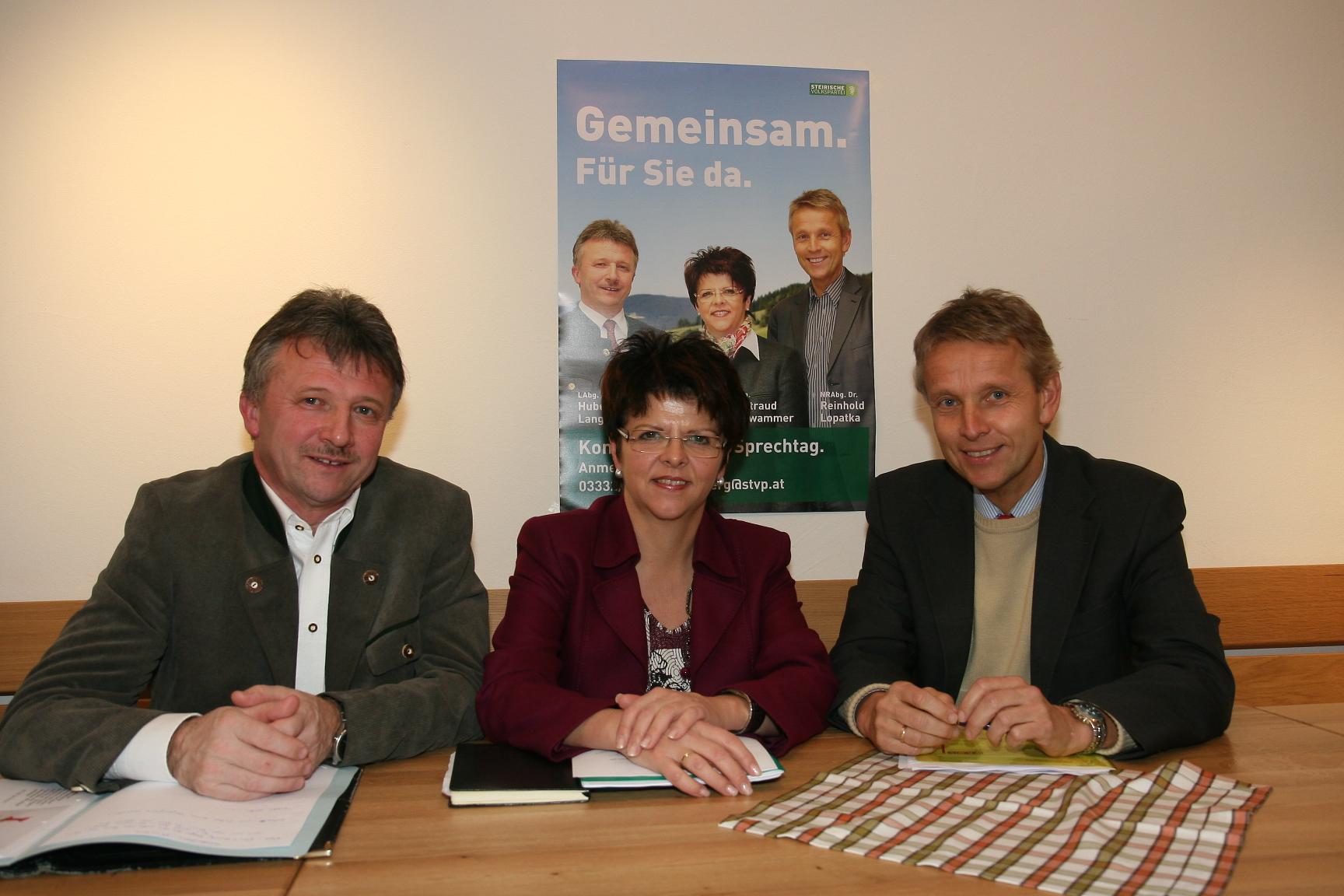 Pressegespräch mit Waltraud Schwammer und Hubert Lang