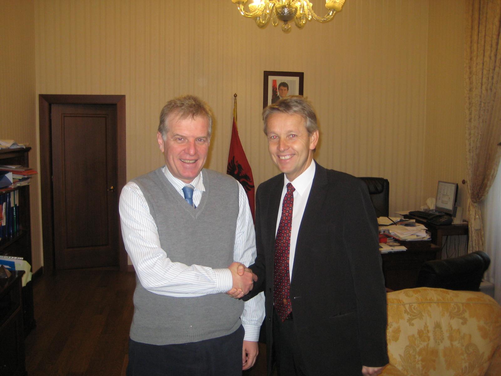 Stellvertretender Regierungschef und Technologieminister Genc Pollo