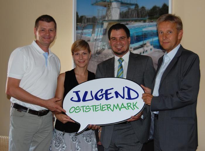 RMO Geschäftsführer Horst Fidlschuster, Jugendmanagerin Marie-Theres Sagl, NRAbg. Michael Schickhofer
